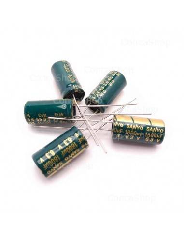 Condensador 6.3V 1800uF 105º SANYO Wgbaja impedancia LOWESR
