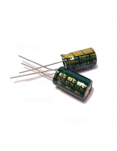 Condensador 10V 2200uF 105º SANYO WX baja impedancia LOWESR