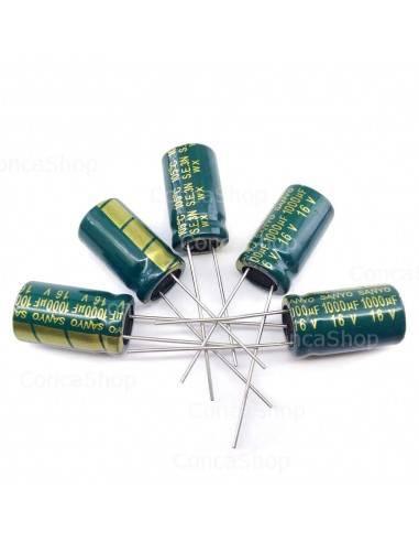 Condensador 16V 1000uF 105º SANYO WX baja impedancia LOWESR