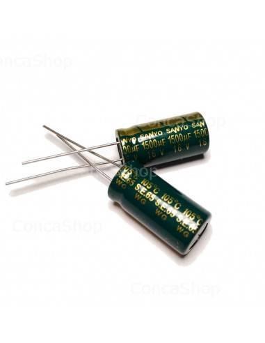 Condensador 16V 1500uF 105º SANYO WX baja impedancia LOWESR