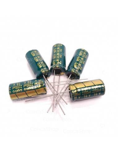 Condensador 16V 2200uF 105º SANYO WX baja impedancia LOWESR