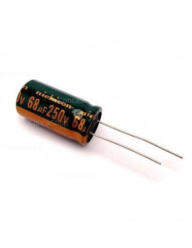 Condensador 250V 68uF 105º NICHICON long life