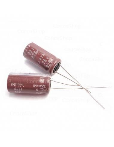 Condensador 25V 820uF 105º NCC KZN baja impedancia long life