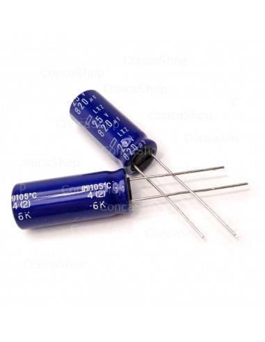 Condensador 25V 820uF 105º NCC LXZ baja impedancia LOWESR