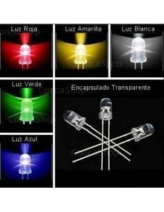 Lote 25 diodos led de colores 5mm