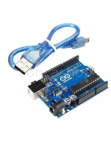 Placa Arduino UNO R3 16U con cable USB