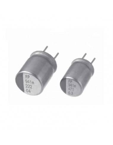 Condensador aluminio estado sólido NICHICON FP 16V 470uF 105º