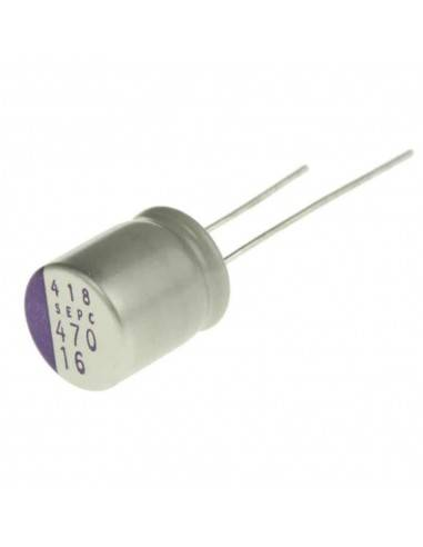 Condensador aluminio estado sólido PANASONIC OS-CON SEPC 2.5V 820uF 105º