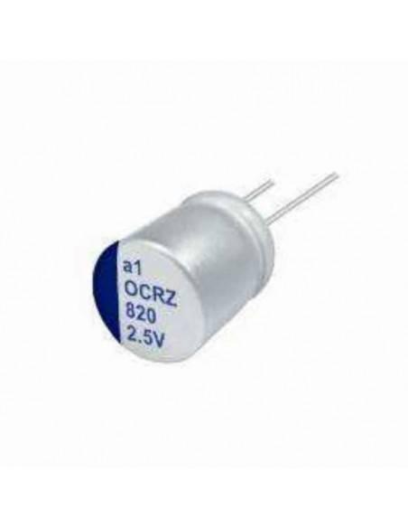 Condensador aluminio estado sólido LELON OCRZ 6.3V 1500uF 105º