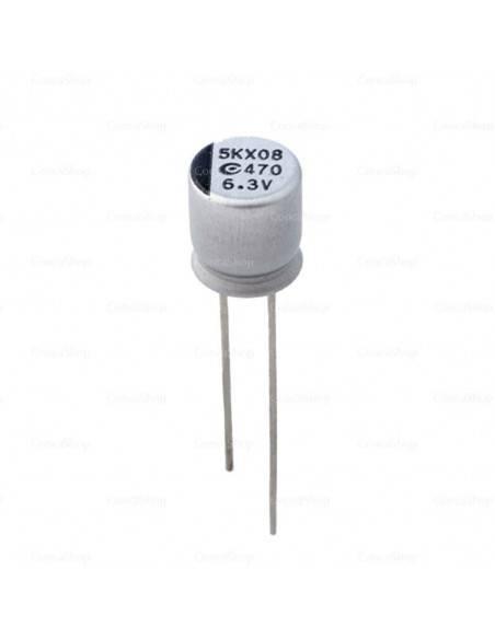 Condensador aluminio estado sólido APAQ serie AR5K 6.3V 560uF 105º