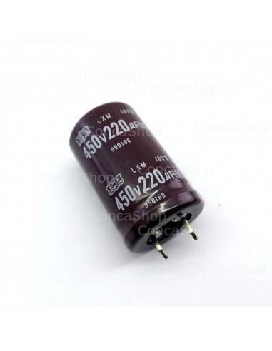 Condensador 450V 220uF 105º Snap In NCC LXM long life