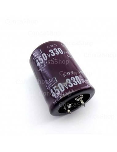 Condensador 450V 330uF 105º Snap In NCC KMH