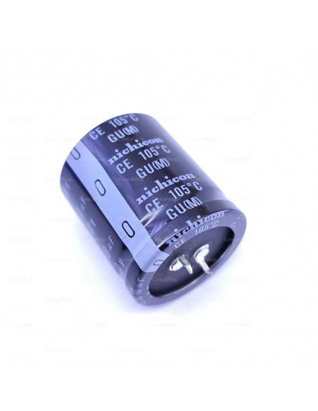 Condensador 450V 390uF 105º Snap In NICHICON GU